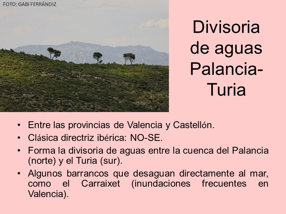 Divisoria de aguas Palancia-Turia