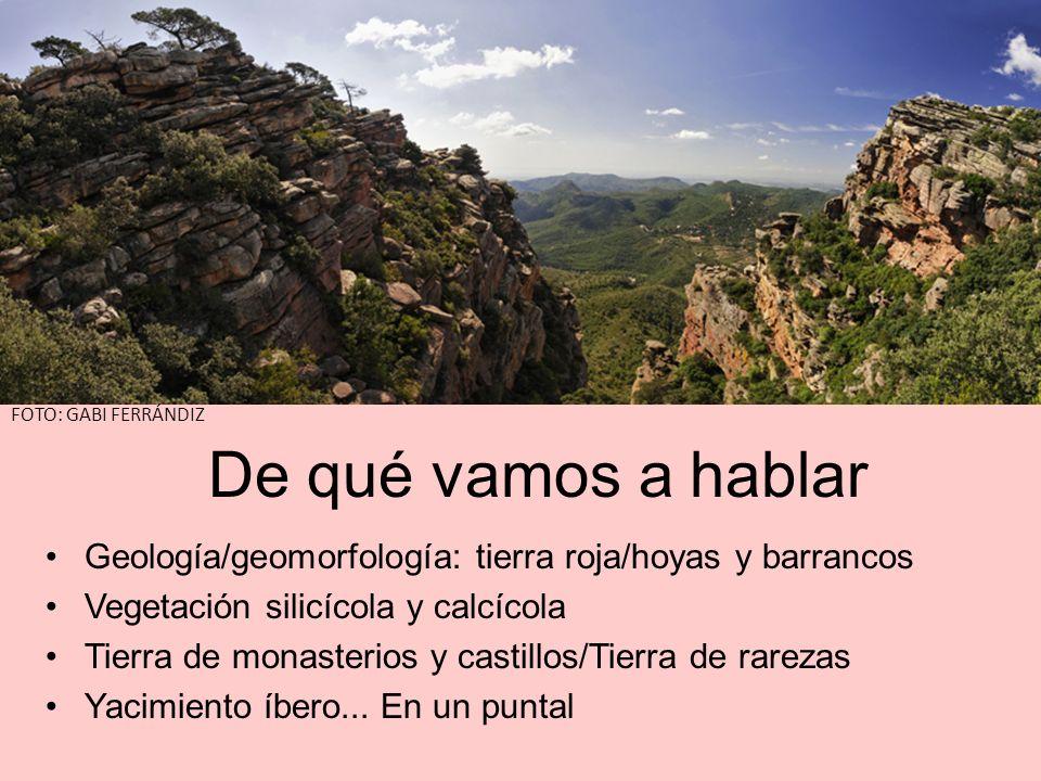 FOTO: GABI FERRÁNDIZ De qué vamos a hablar. Geología/geomorfología: tierra roja/hoyas y barrancos.