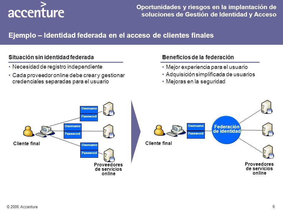 Ejemplo – Identidad federada en el acceso de clientes finales