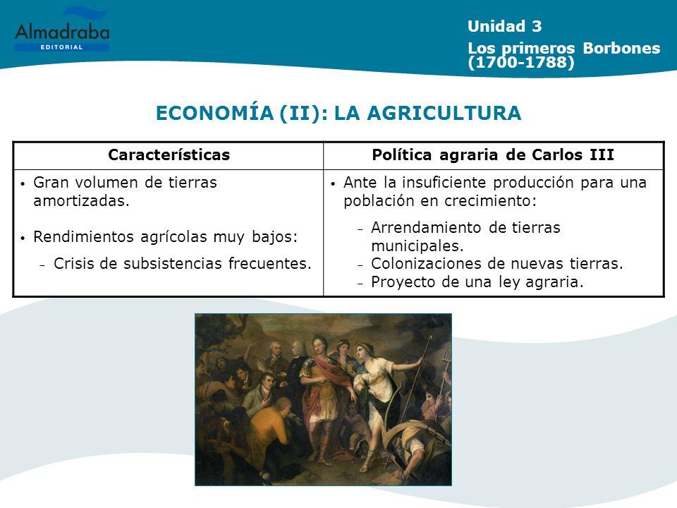 ECONOMÍA (II): LA AGRICULTURA