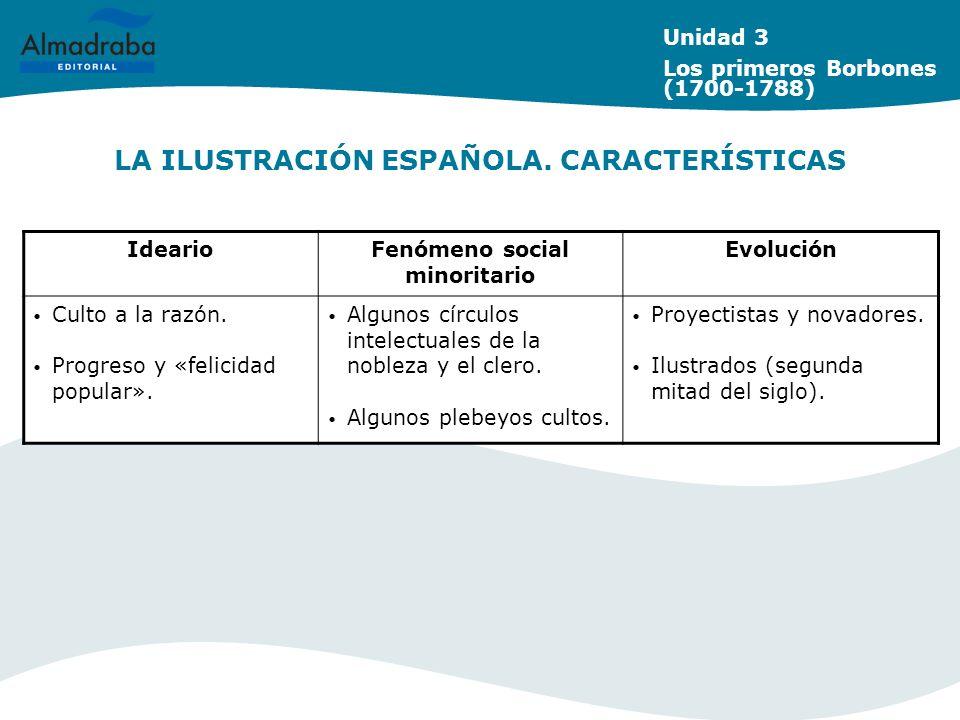 LA ILUSTRACIÓN ESPAÑOLA. CARACTERÍSTICAS