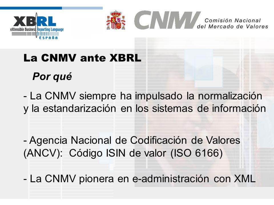 - La CNMV pionera en e-administración con XML