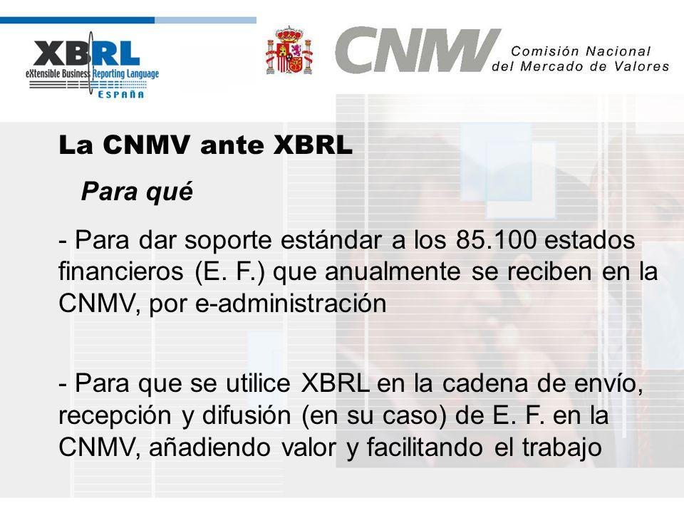 La CNMV ante XBRL Para qué