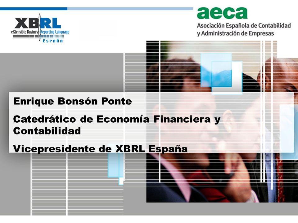 Enrique Bonsón Ponte Catedrático de Economía Financiera y Contabilidad.
