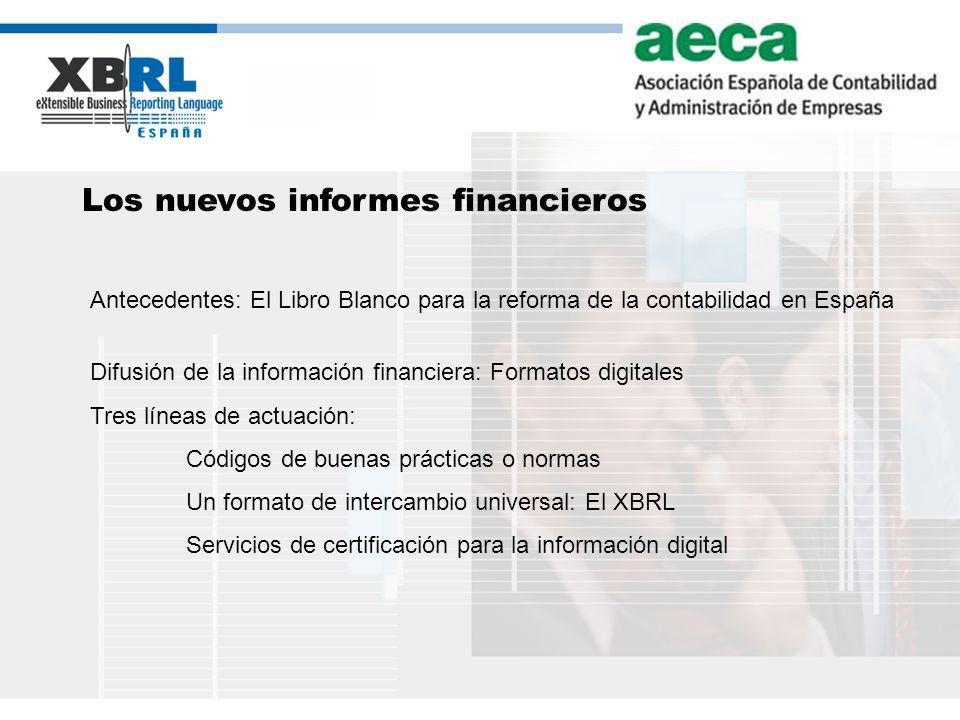 Los nuevos informes financieros