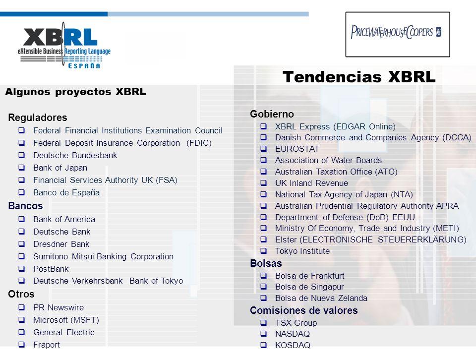 Algunos proyectos XBRL