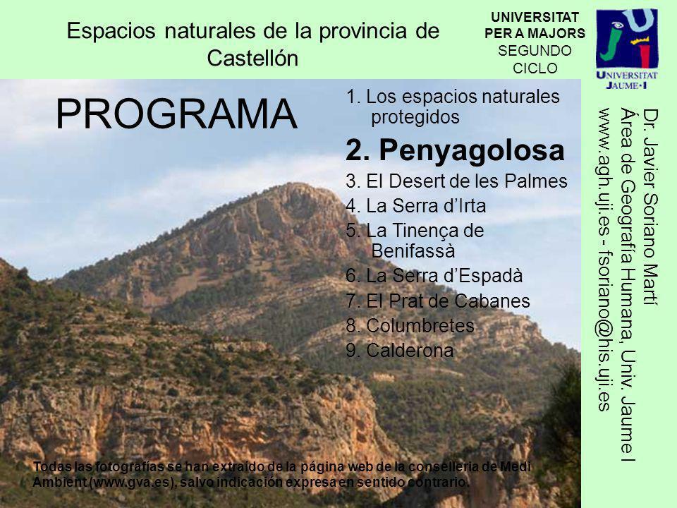 Espacios naturales de la provincia de Castellón