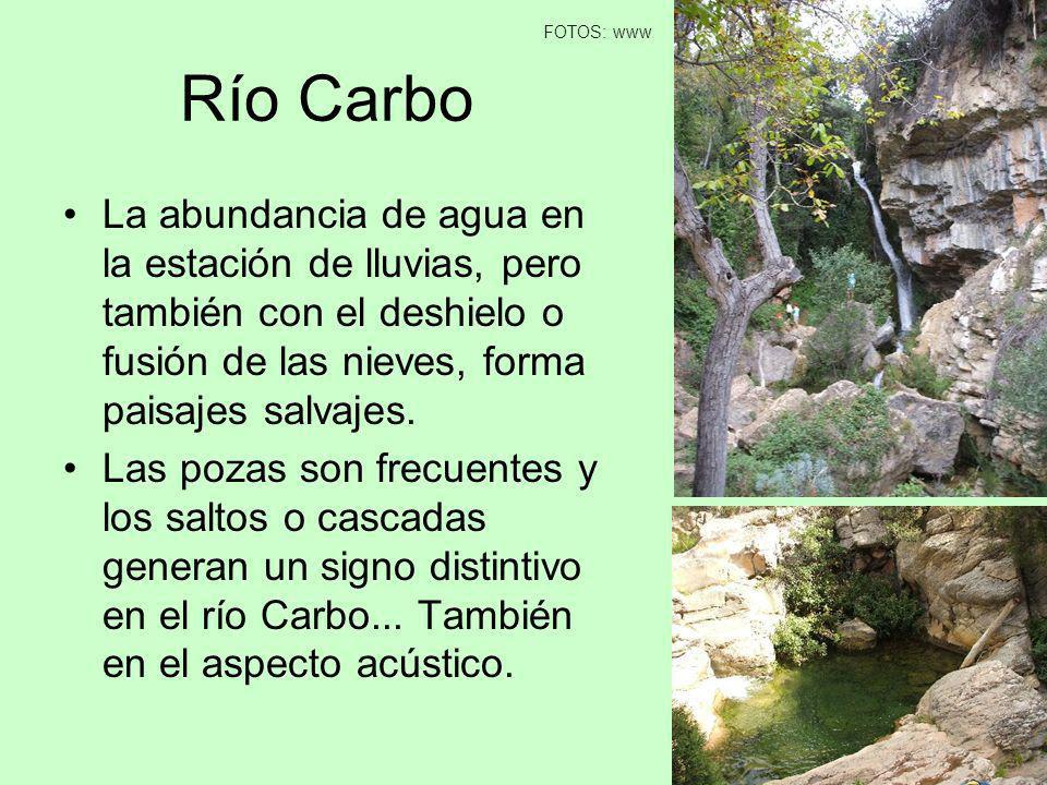 FOTOS: www Río Carbo. La abundancia de agua en la estación de lluvias, pero también con el deshielo o fusión de las nieves, forma paisajes salvajes.