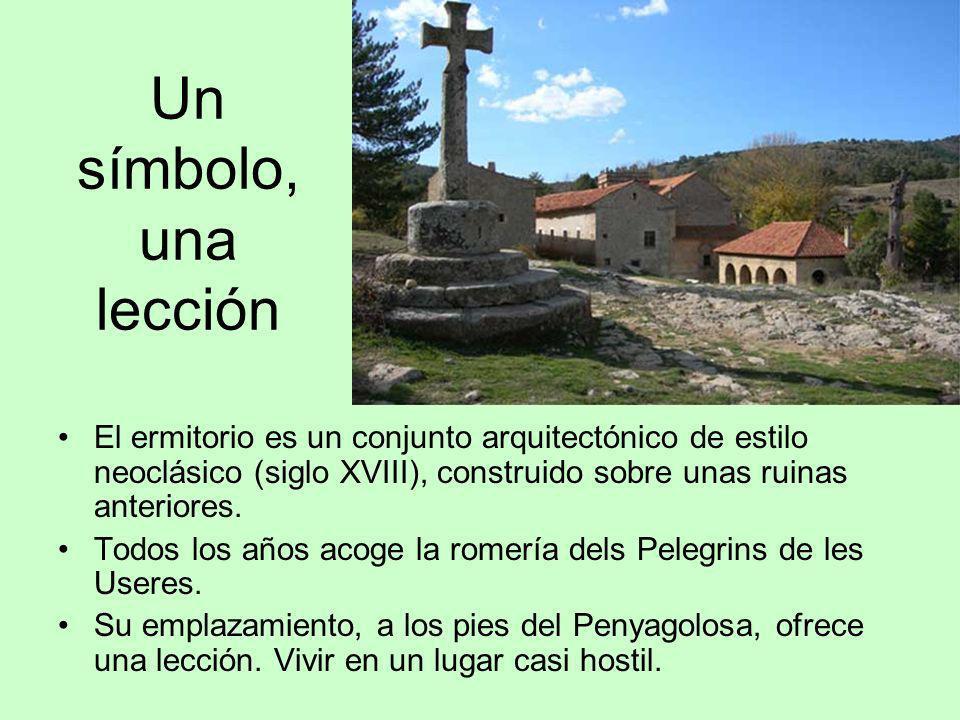 Un símbolo, una lección El ermitorio es un conjunto arquitectónico de estilo neoclásico (siglo XVIII), construido sobre unas ruinas anteriores.