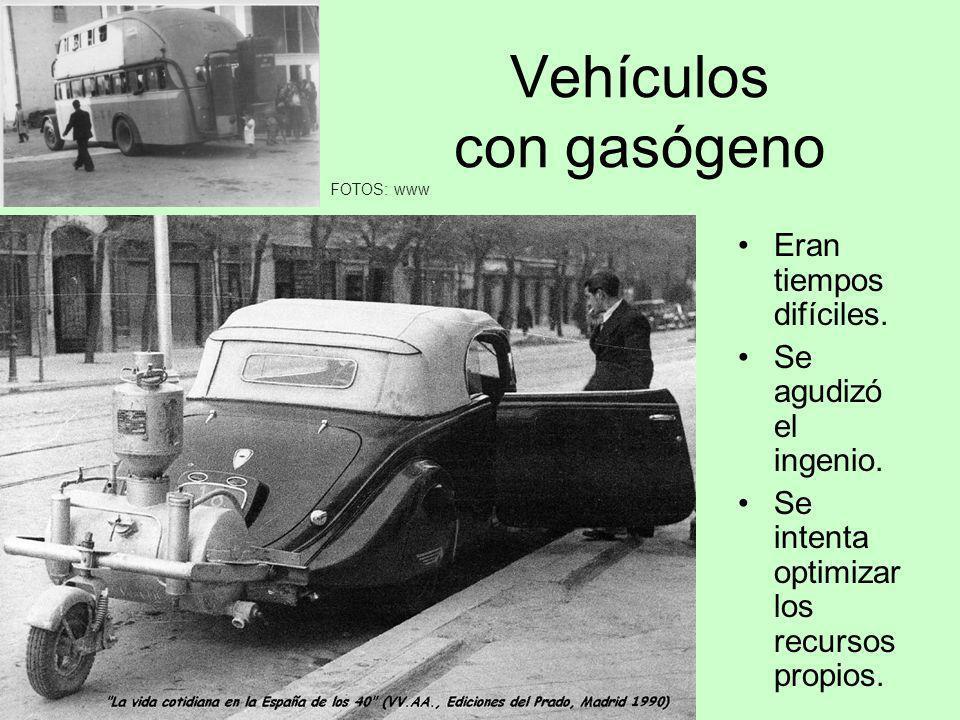 Vehículos con gasógeno