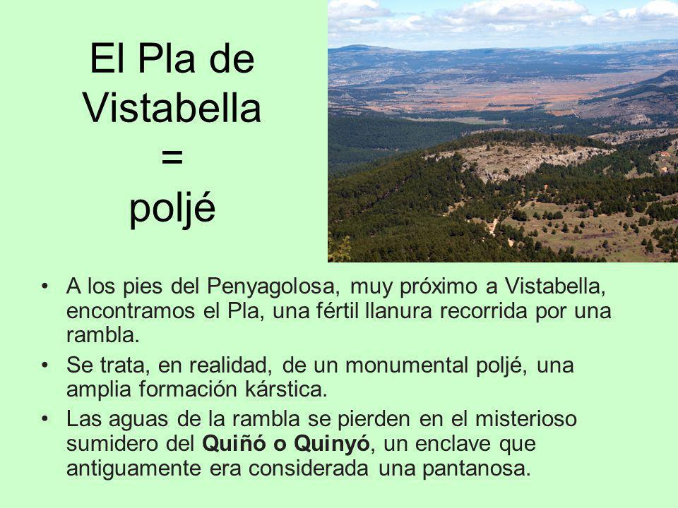 El Pla de Vistabella = poljé