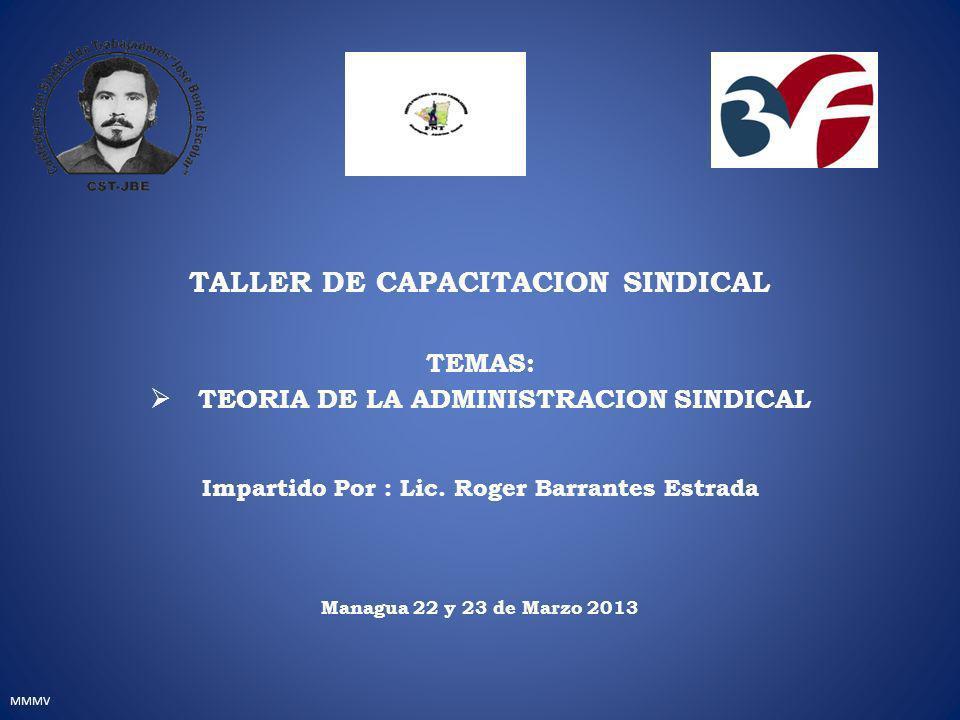TALLER DE CAPACITACION SINDICAL