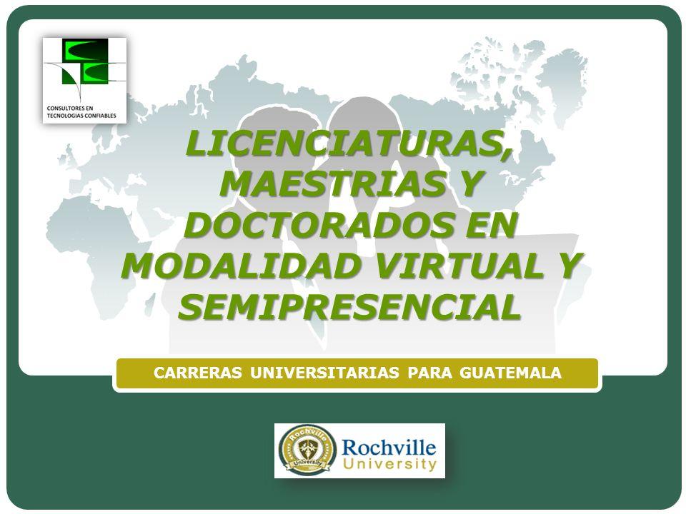 CARRERAS UNIVERSITARIAS PARA GUATEMALA