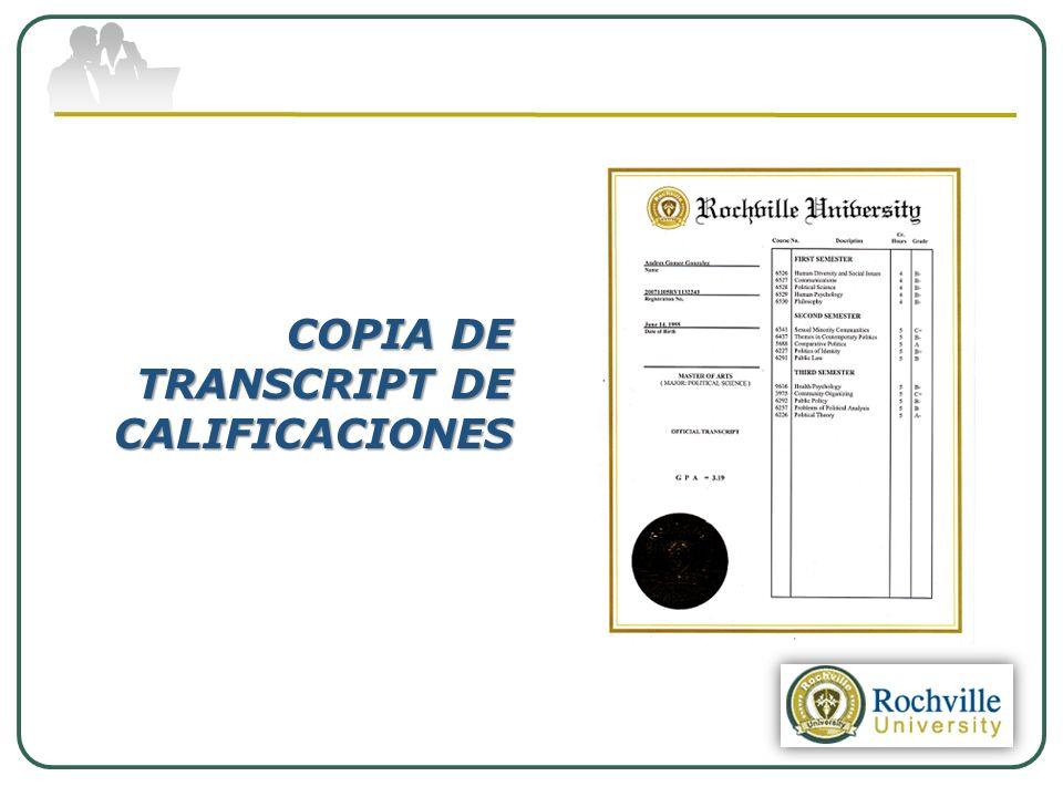 COPIA DE TRANSCRIPT DE CALIFICACIONES