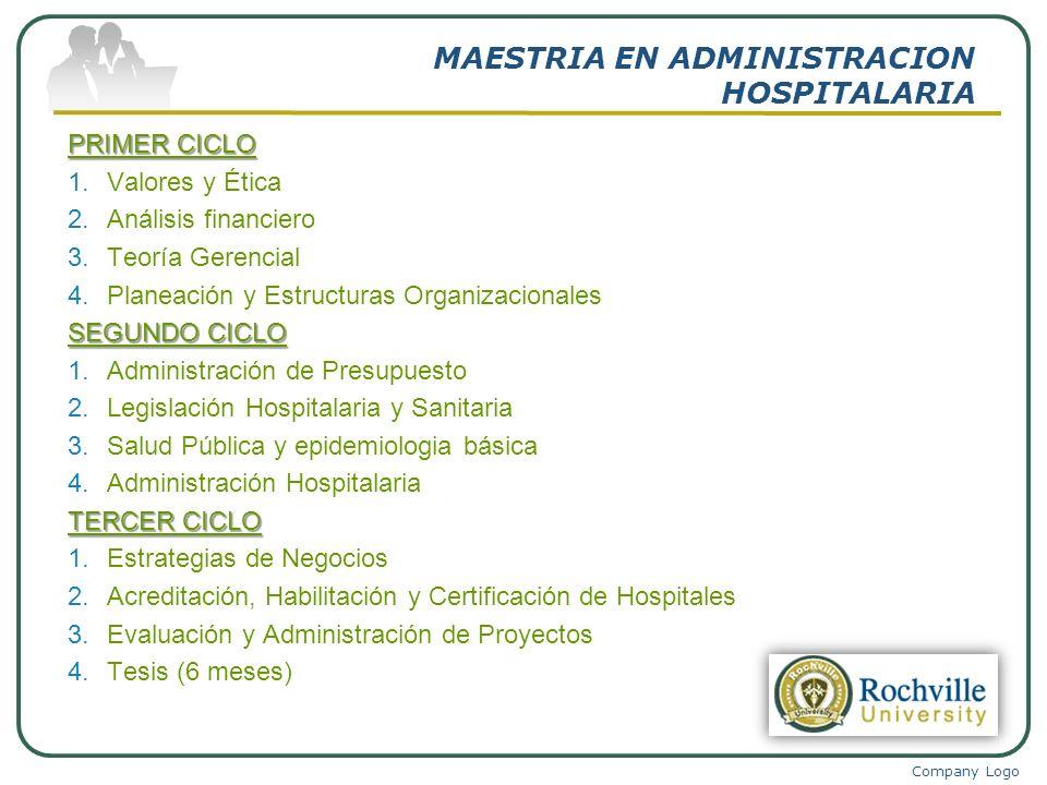 MAESTRIA EN ADMINISTRACION HOSPITALARIA