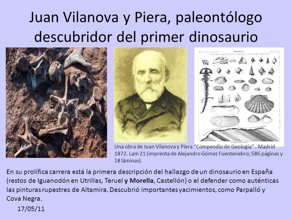 Juan Vilanova y Piera, paleontólogo descubridor del primer dinosaurio