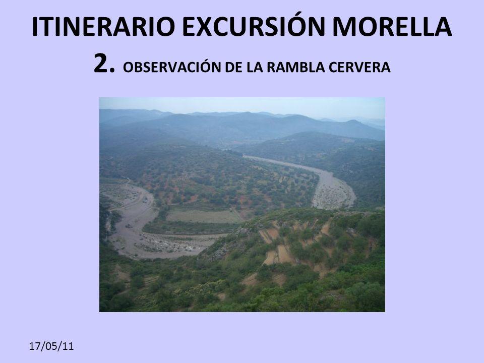 ITINERARIO EXCURSIÓN MORELLA 2. OBSERVACIÓN DE LA RAMBLA CERVERA