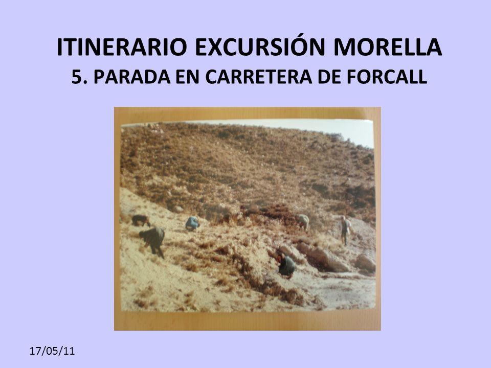 ITINERARIO EXCURSIÓN MORELLA 5. PARADA EN CARRETERA DE FORCALL