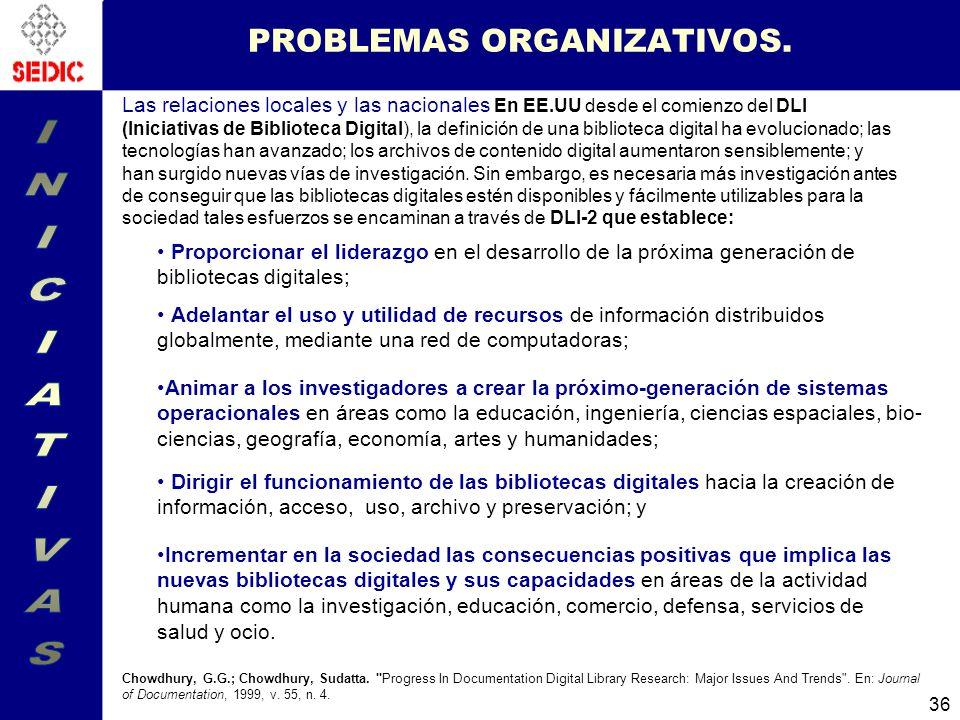 PROBLEMAS ORGANIZATIVOS.