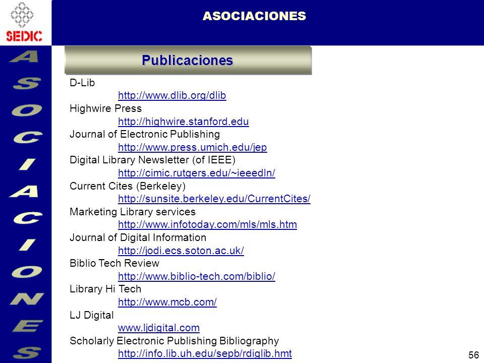 ASOCIACIONES Publicaciones ASOCIACIONES D-Lib http://www.dlib.org/dlib