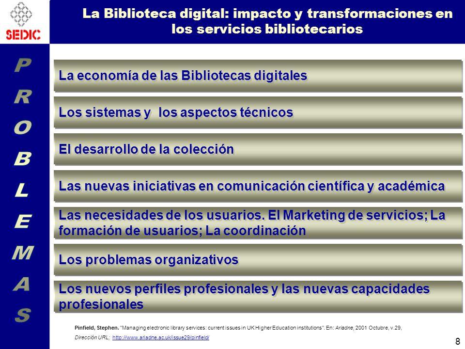 La Biblioteca digital: impacto y transformaciones en los servicios bibliotecarios