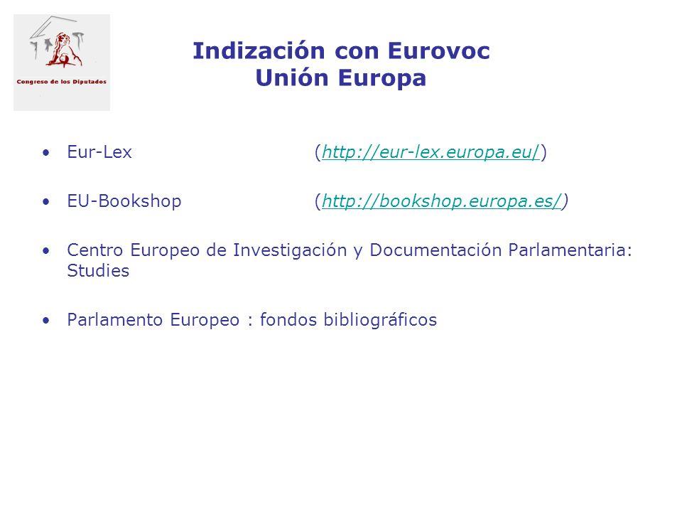 Indización con Eurovoc Unión Europa
