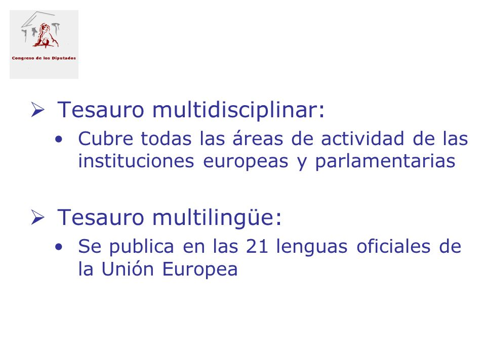 Tesauro multidisciplinar: