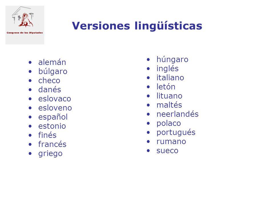 Versiones lingüísticas