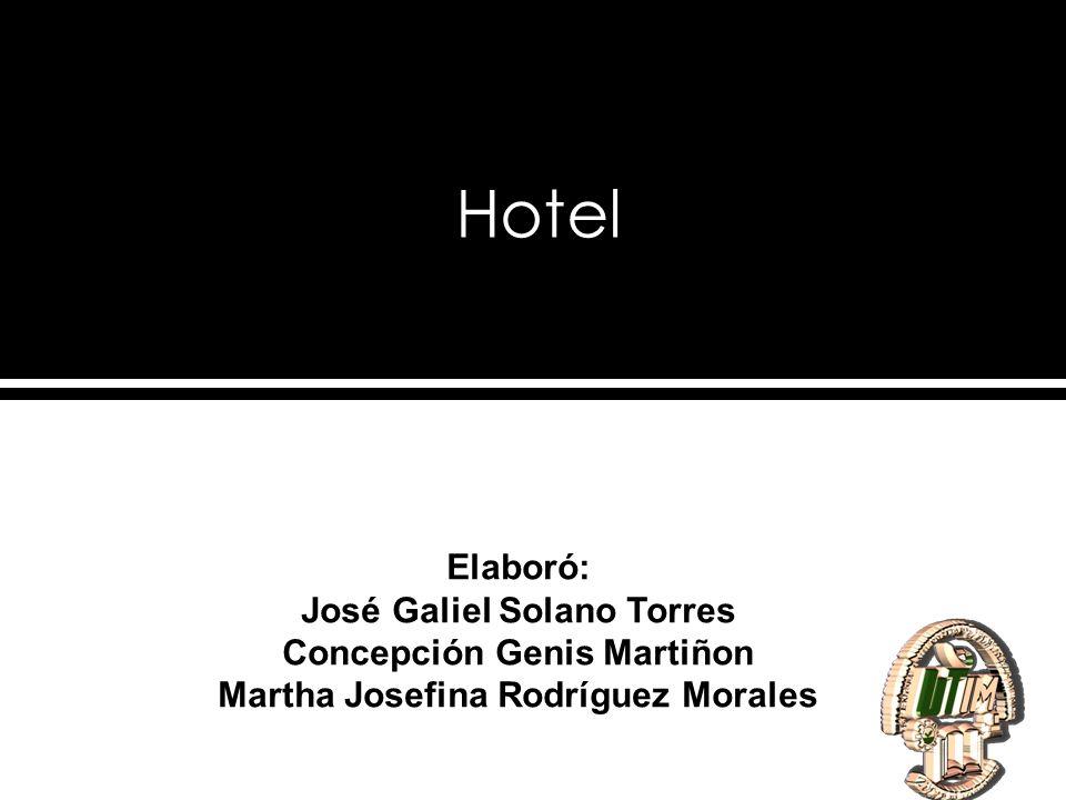 Hotel Elaboró: José Galiel Solano Torres Concepción Genis Martiñon