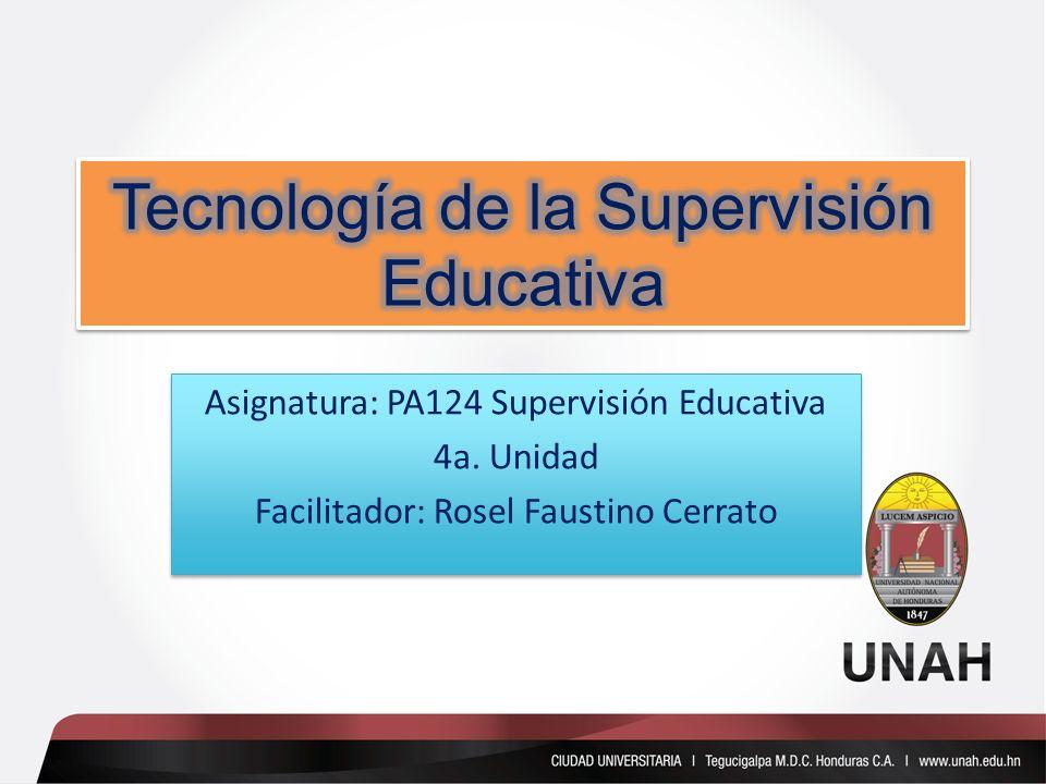 Tecnología de la Supervisión Educativa