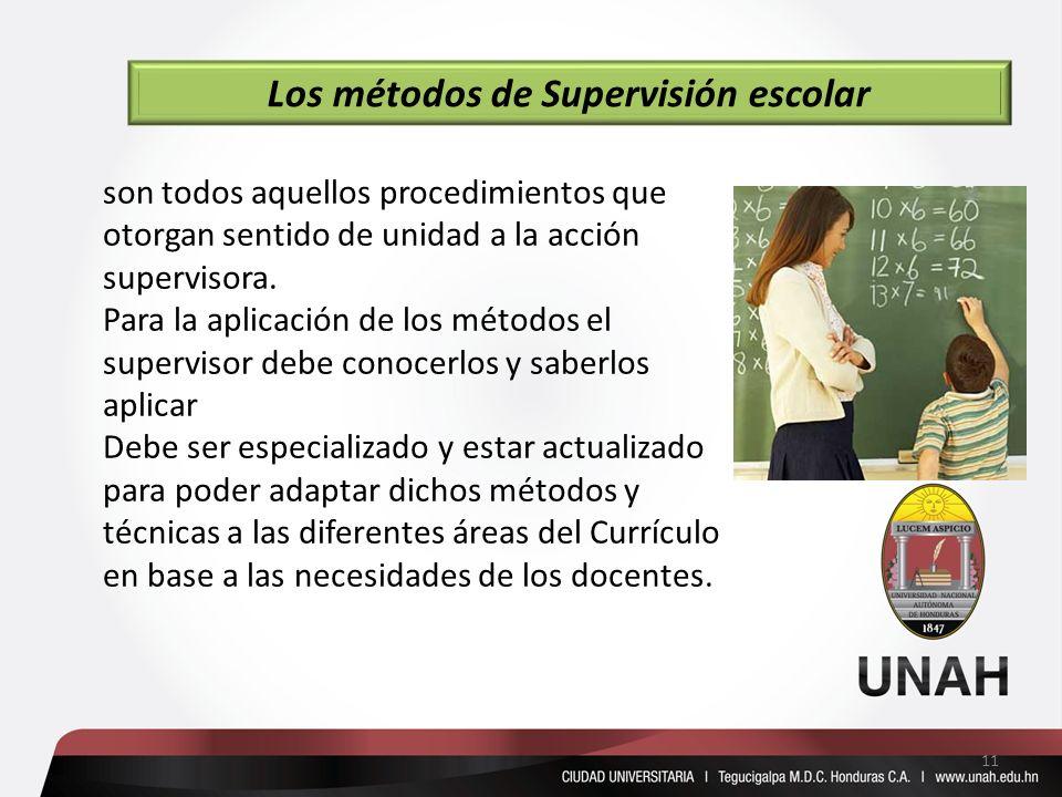 Los métodos de Supervisión escolar