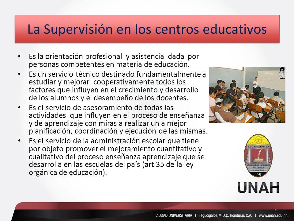 La Supervisión en los centros educativos