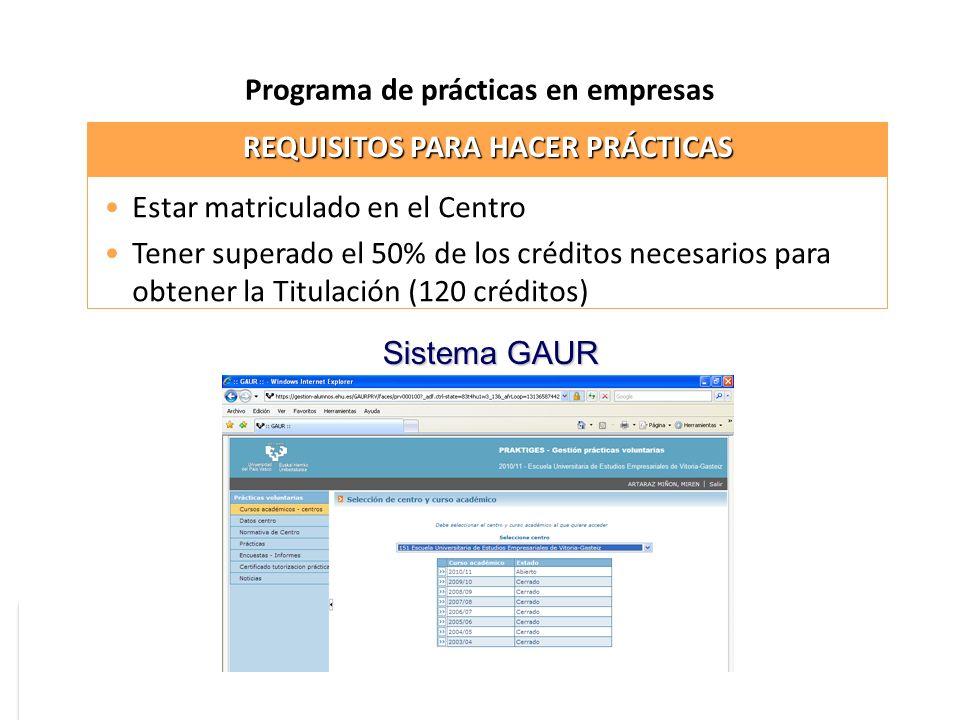 Programa de prácticas en empresas