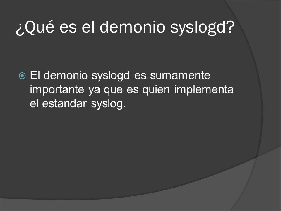 ¿Qué es el demonio syslogd