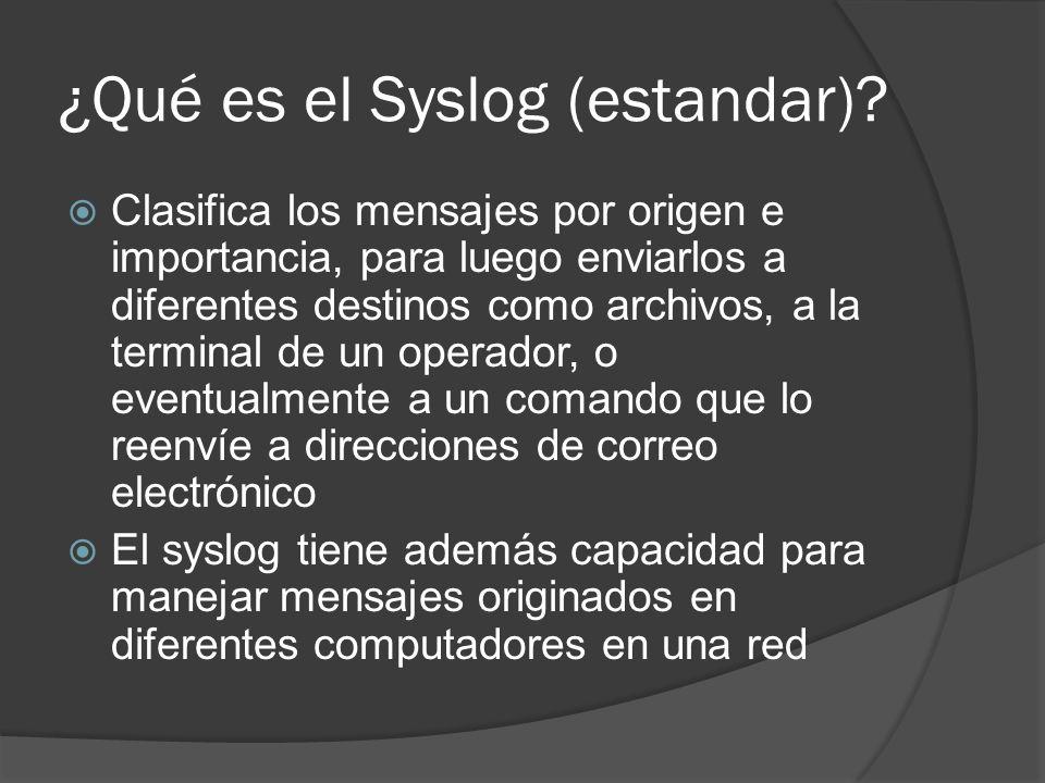 ¿Qué es el Syslog (estandar)