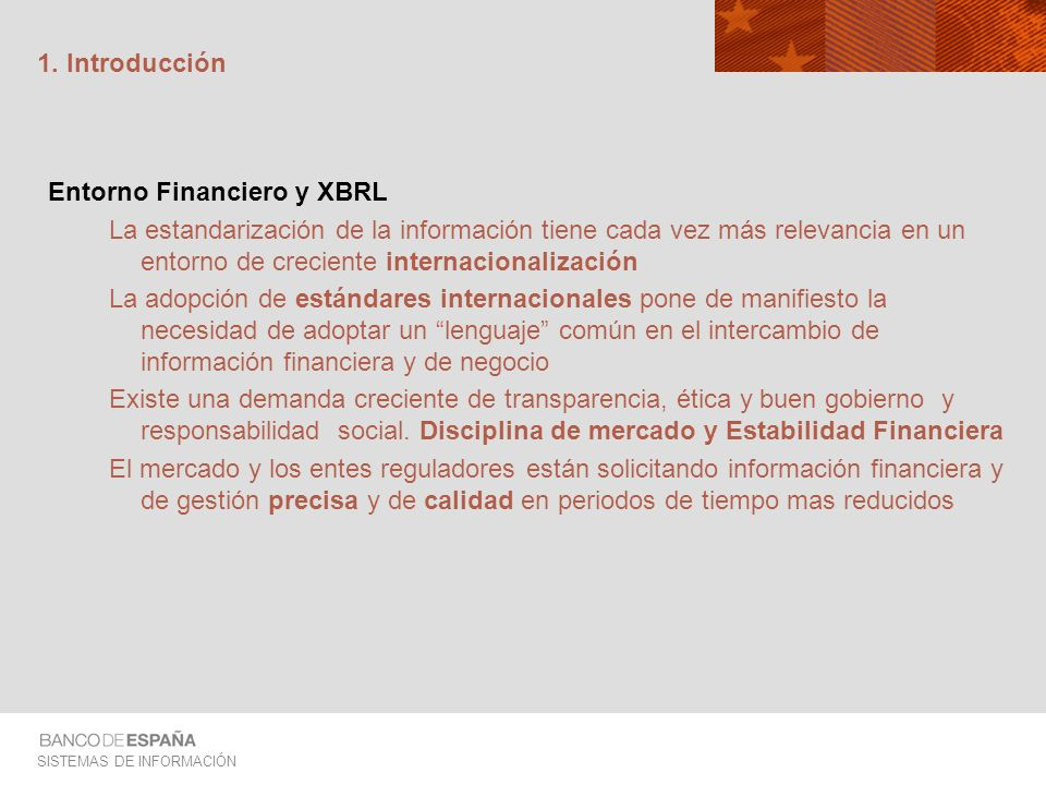 1. IntroducciónEntorno Financiero y XBRL.