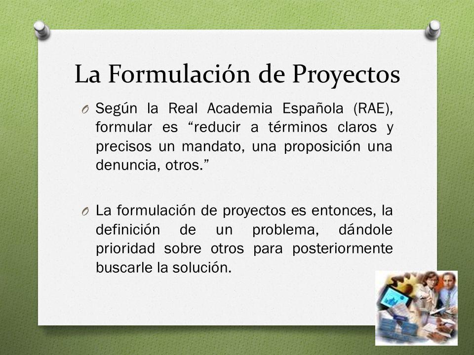 La Formulación de Proyectos