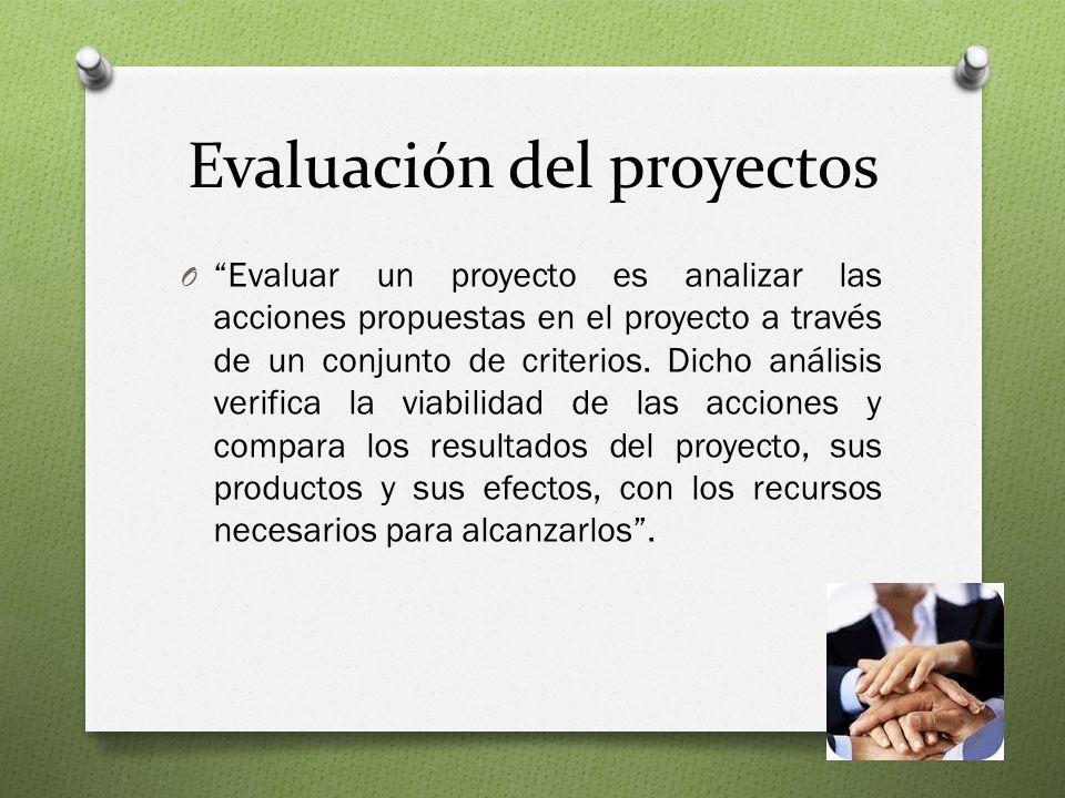 Evaluación del proyectos