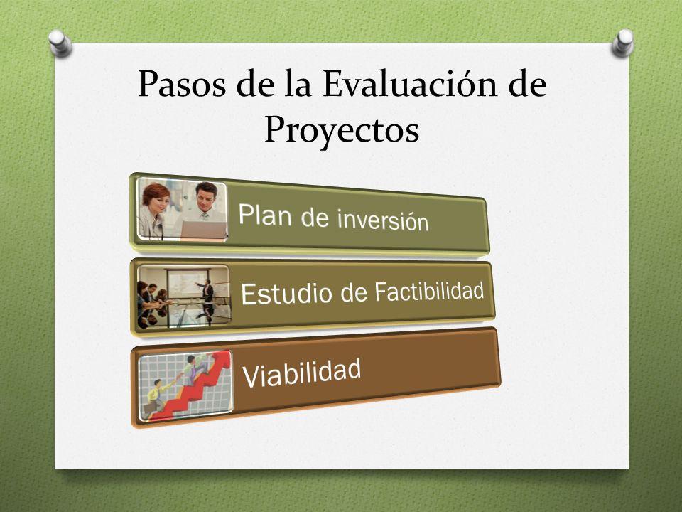 Pasos de la Evaluación de Proyectos