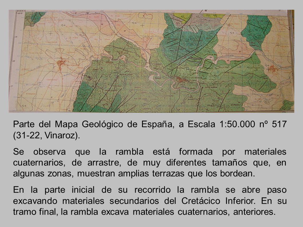 Parte del Mapa Geológico de España, a Escala 1:50