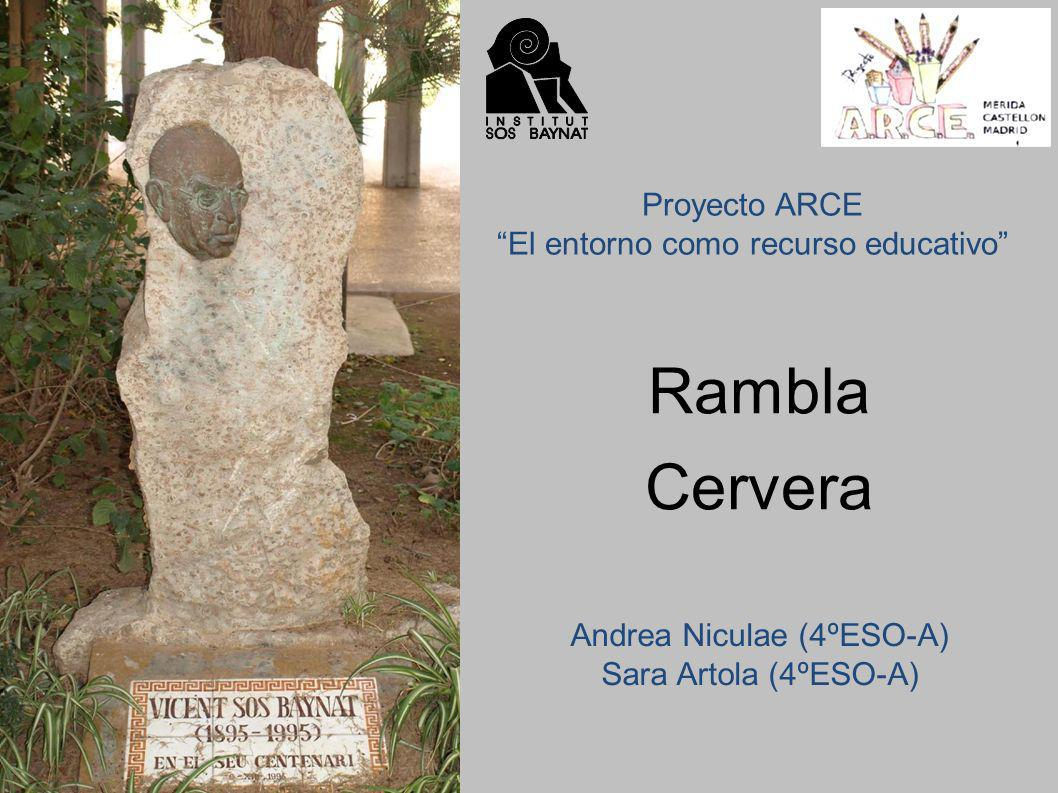 Rambla Cervera Proyecto ARCE El entorno como recurso educativo