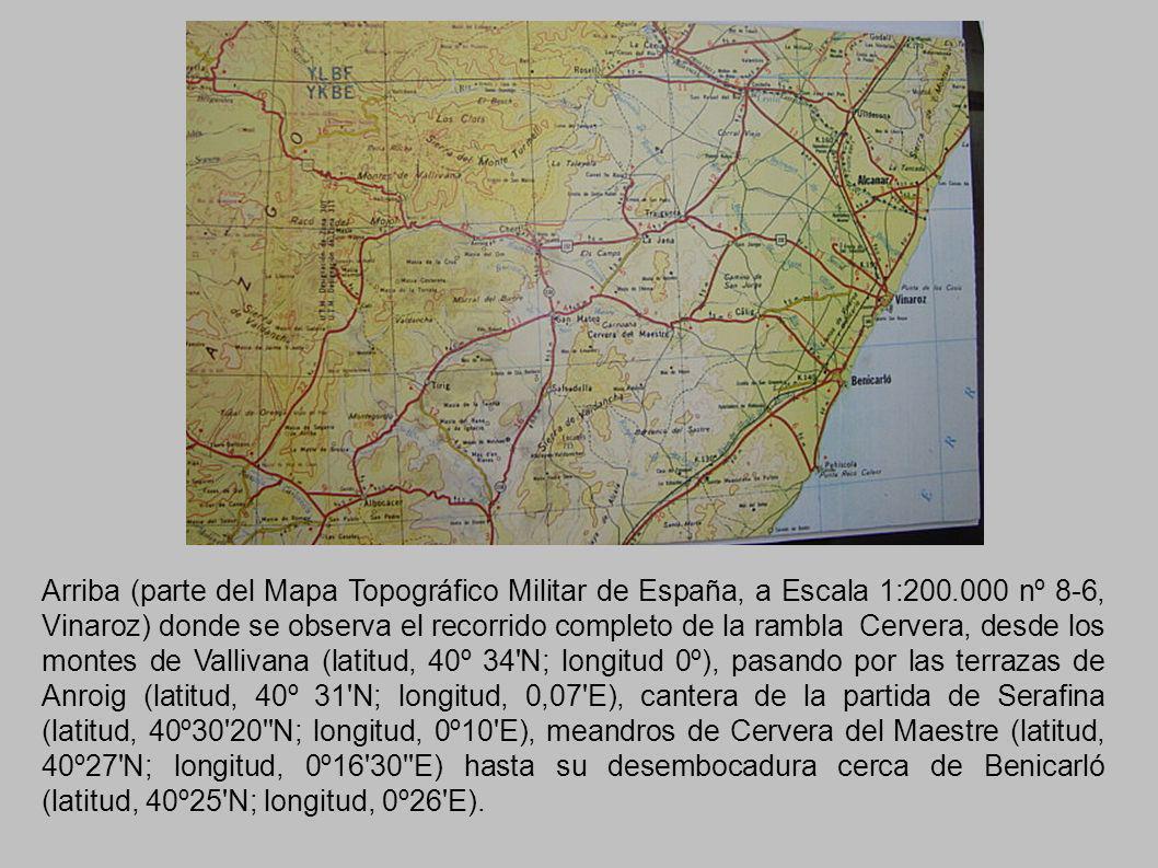Arriba (parte del Mapa Topográfico Militar de España, a Escala 1:200