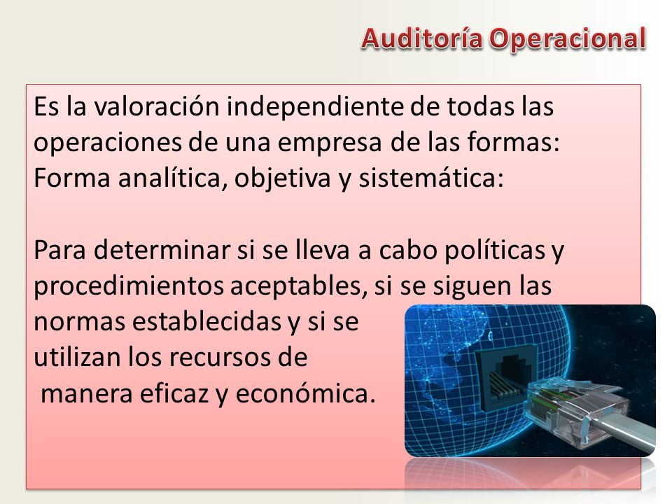 Auditoría Operacional