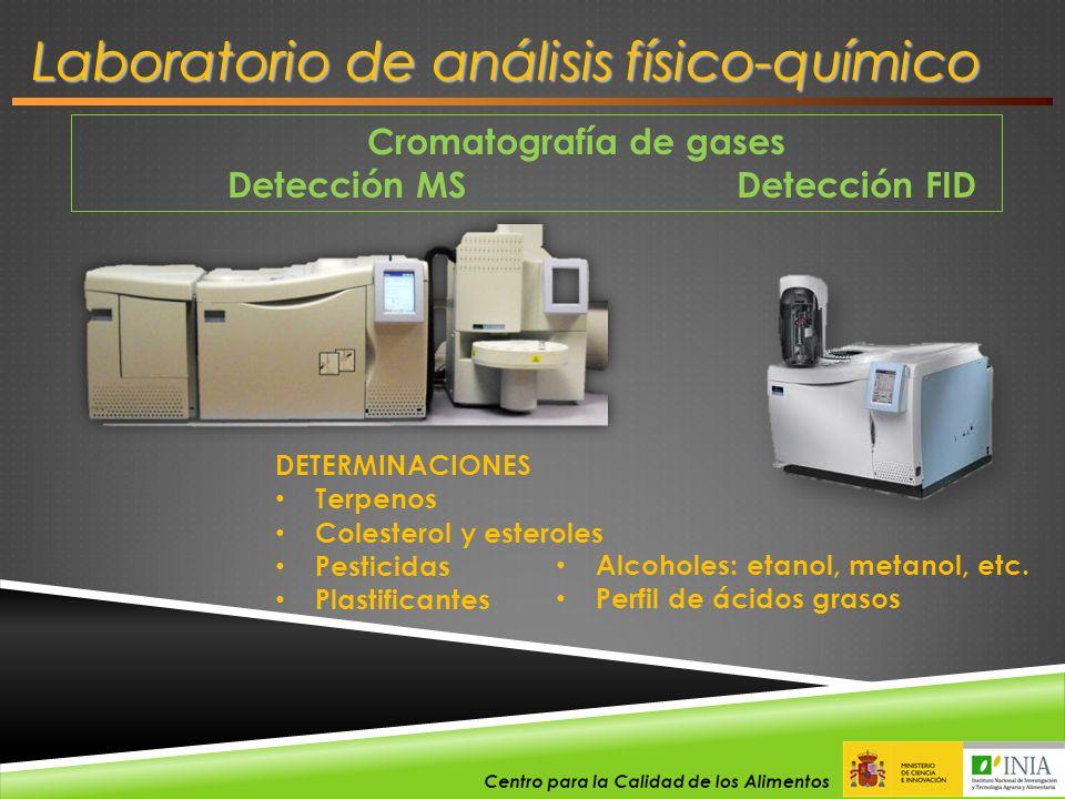 Cromatografía de gases Detección MS Detección FID