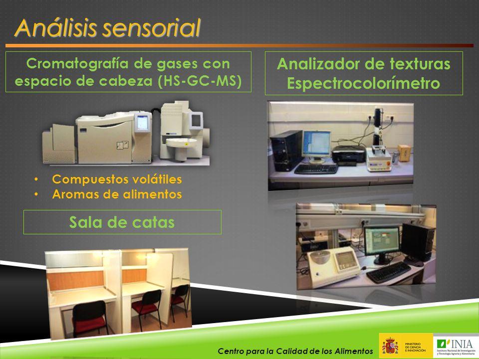 Análisis sensorial Analizador de texturas Espectrocolorímetro