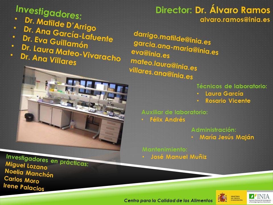 Director: Dr. Álvaro Ramos Investigadores: