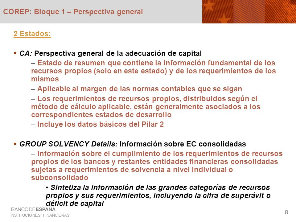COREP: Bloque 1 – Perspectiva general