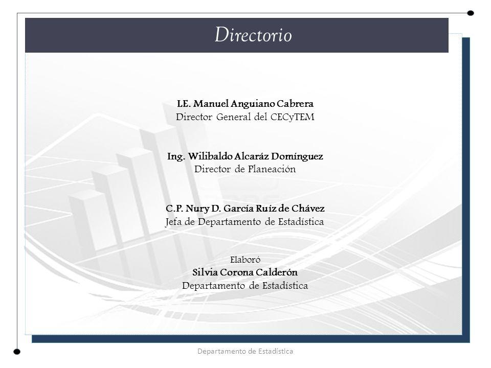 Directorio LE. Manuel Anguiano Cabrera Director General del CECyTEM
