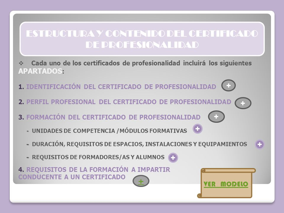 ESTRUCTURA Y CONTENIDO DEL CERTIFICADO DE PROFESIONALIDAD