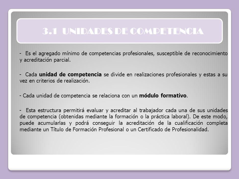 3.1 UNIDADES DE COMPETENCIA